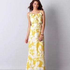 Loft Yellow & White magnolia Maxi dress